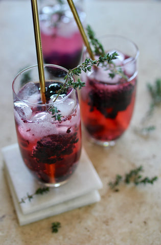 Nexba blueberry and acai vodka tonic