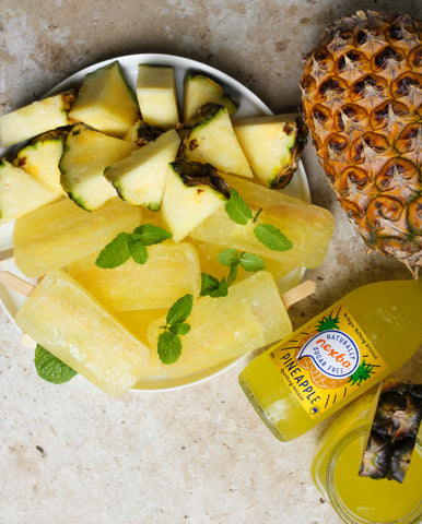 pineapple ice blocks using Nexba pineapple sparkling infusion
