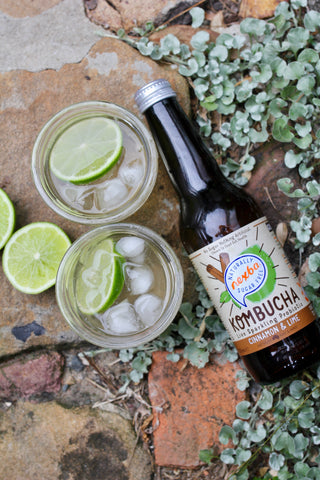 Nexba cinnamon and lime kombucha cocktails