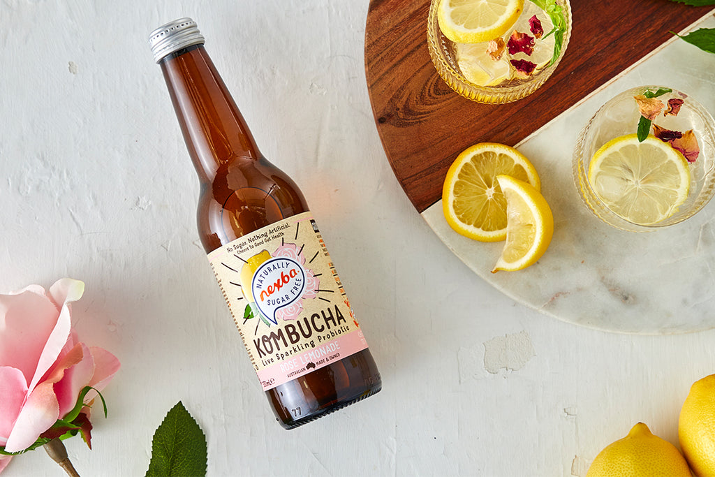 nexba kombucha raspberry lemonade zero alcohol