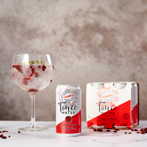 Nexba cranberry and hibiscus tonic water