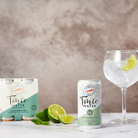 Nexba lime cucumber mint tonic water