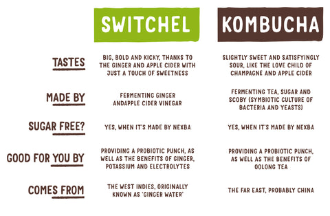 Switchel vs kombucha lowdown
