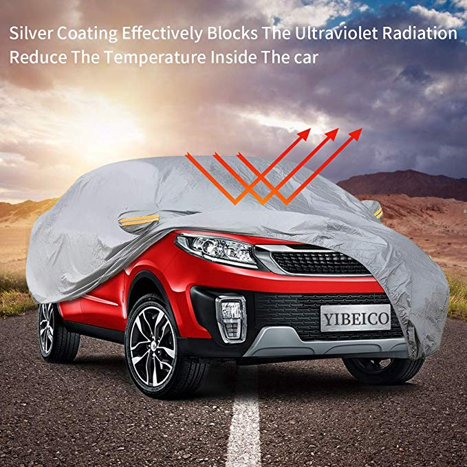 Waterproof All Weather Car Covers With Cotton Zipper Sun Rain