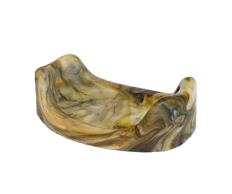 Dark Neutral Swirl Dish