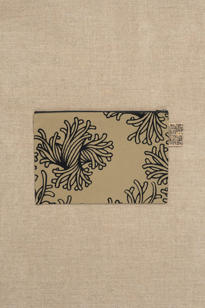 Pouch- Nylon- L Rope Print- Beige