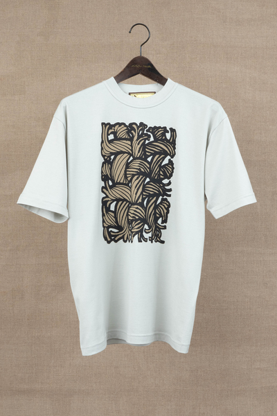 Printed Tshirt- Painting Series 01- Light Grey