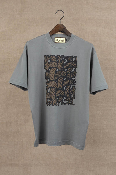 Printed Tshirt- Painting Series 01- Grey