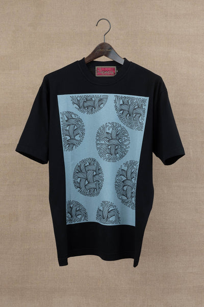 Tshirt Printed- Bubble Rope- Black