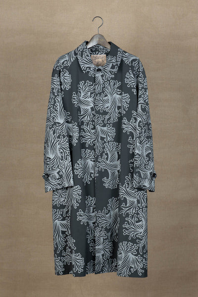 Coat 136- 19AW- Polyester87% / Nylon13% Twill Bd6601 Print- L Rope- Black