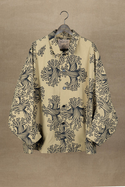 Jacket 19236- Polyester87% / Nylon13% Twill Print- L Rope- Beige