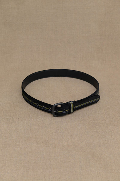 Belt Leather- Velvet- Paint- Black