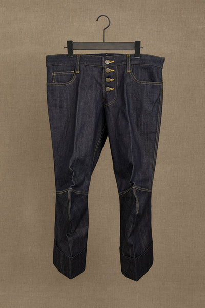 Trousers 8881- Cotton% Denim Red Selvedge- Indigo