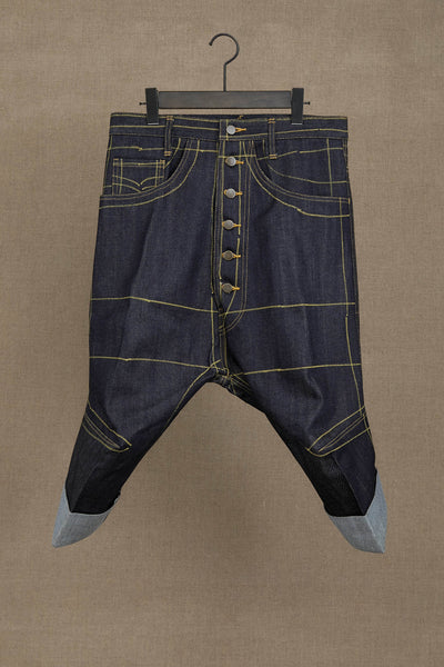 Trousers 16381- Denim- 1 Paint- Indigo