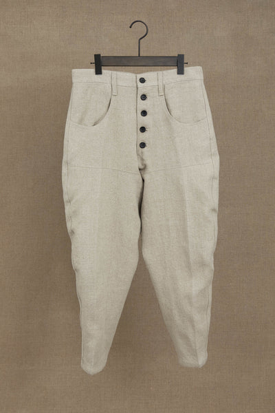 Trousers 42- Linen- Natural