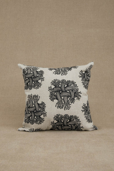 Cushion Cover- Heavy Linen- Emb Rope Print- Raw