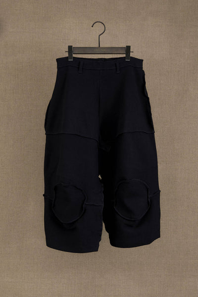 Trousers 103 Wide- Cotton Span- Black Stitch- Black