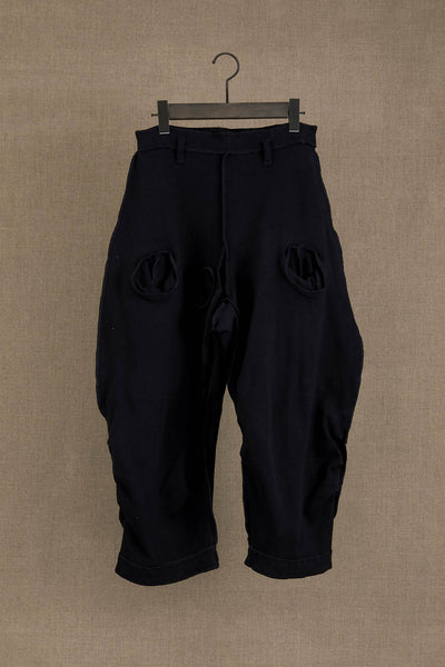 Trousers 102 Long- Cotton Span- Black Stitch- Black