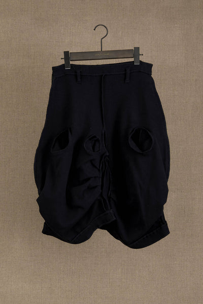 Trousers 104 Short- Cotton Span- Black Stitch- Black