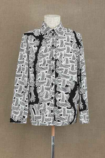 Shirt 18752- Cotton100% Broad 11000 Print- Isle Rope- Black