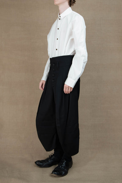 Trousers 20- Wool Gabardine - Black