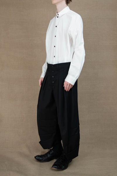 Trousers 21B- Wool100% Gabardine- Black