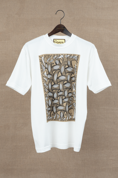 Printed Tshirt- Cut-Out Rope/ Square- White