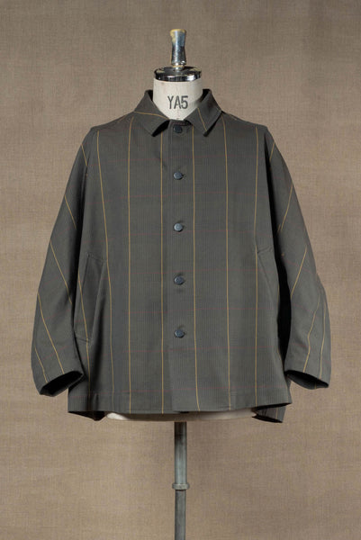 Jacket 19236- Cotton100% Original Check SS20- Moss Green