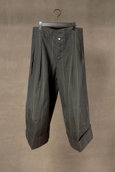 Trousers 21B- Cotton100% Original Check SS20- Moss Green