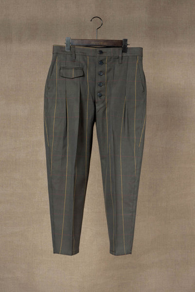 Trousers 11- Cotton100% Original Check SS20- Moss Green