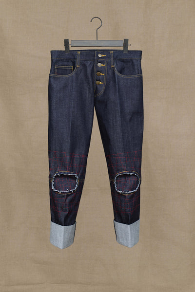 Trousers RL20- Denim- Red Stitch