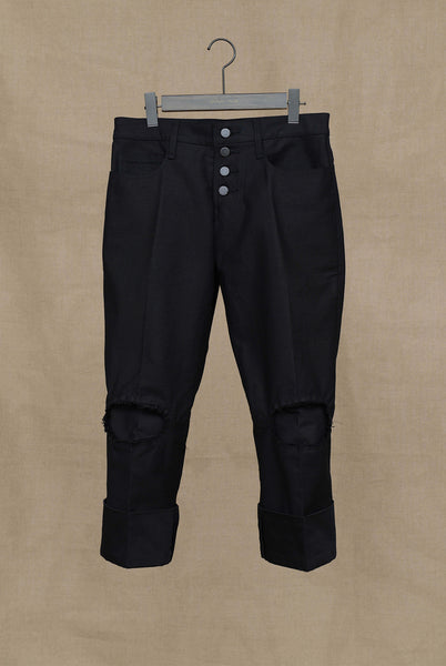 Trousers 820- Back Satin- Black