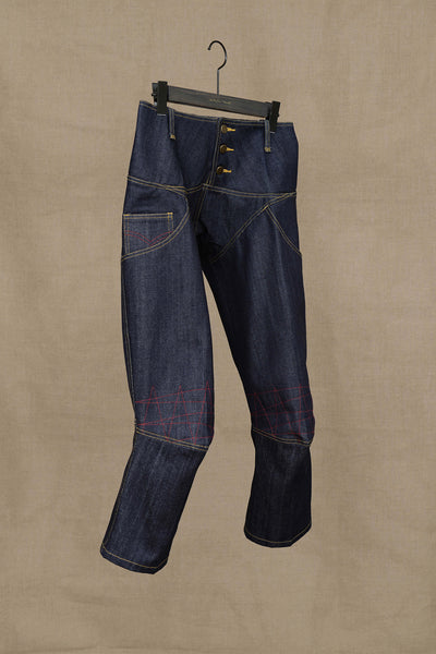 Front- Christopher Nemeth Online Store Products- TR 2036- Denim- Red Stitch