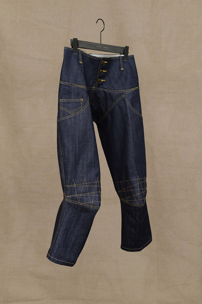 Christopher Nemeth Online Store Products- TR 2036- Denim- Yellow Stitch