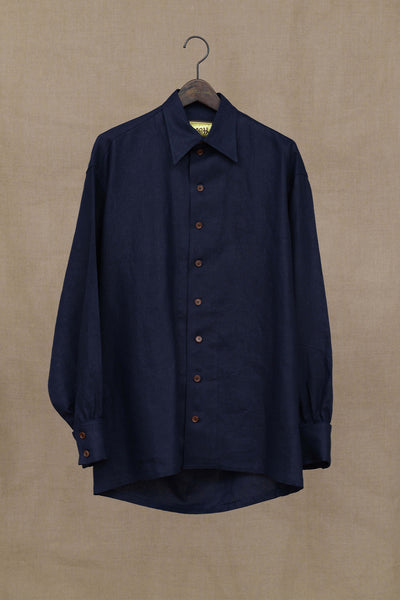 Christopher Nemeth Online Store Products- Shirt 943- Linen- Navy