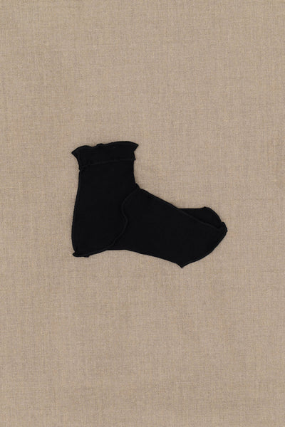Socks Short- Black Body- Black Stitch