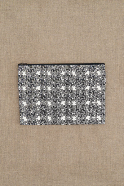 Pouch- Cotton- SS Rope Print- White