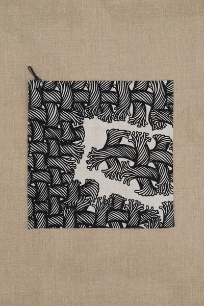 Handkerchief- Light Linen- Isle Rope Print- Natural