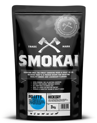 HICKORY SMOKING PELLETS 3.0Kg