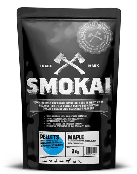 MAPLE SMOKING PELLETS 3.0Kg