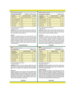 Nutrition Facts Label in French, Italian, Spanish and German