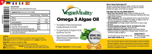 Information about our Omega 3 Algae Oil