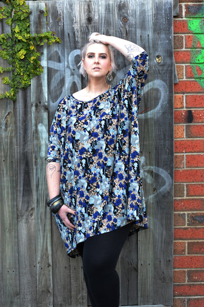 Blue Lace Print Tunic