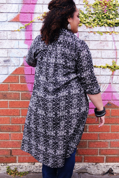 Tribal Print Shirt Dress
