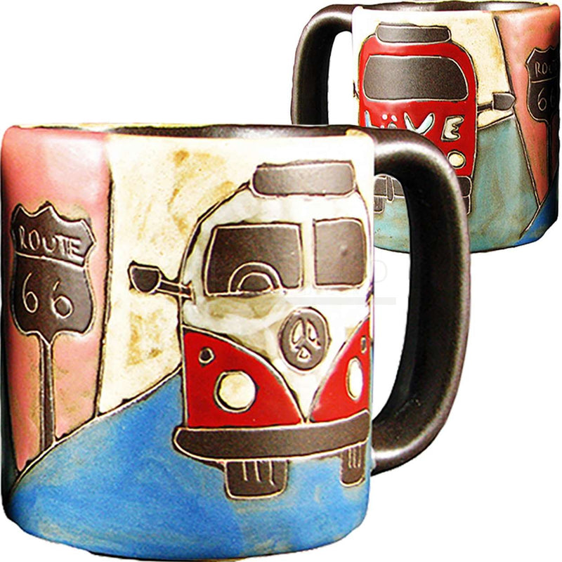 Mara Round Mug 16 oz - Love Bus - 510E2