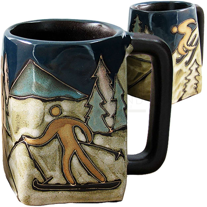 Mara Square Bottom Mug 12 oz - Skiers   511J3