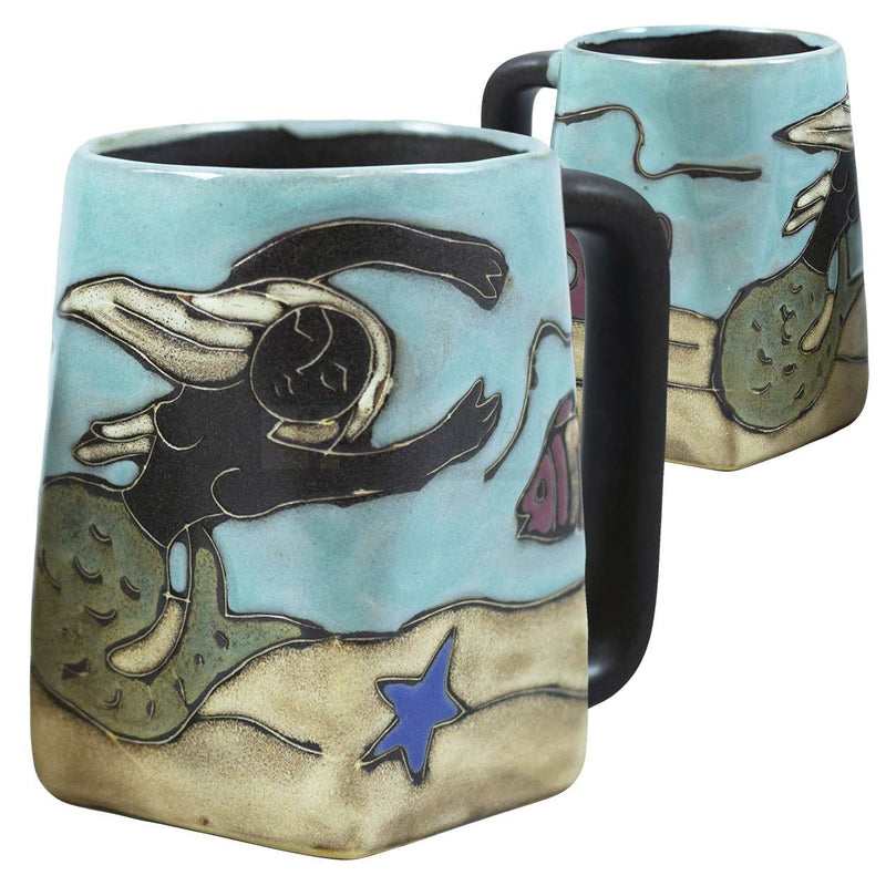 Mara Square Bottom Mug 12 oz - Mermaid   511R9