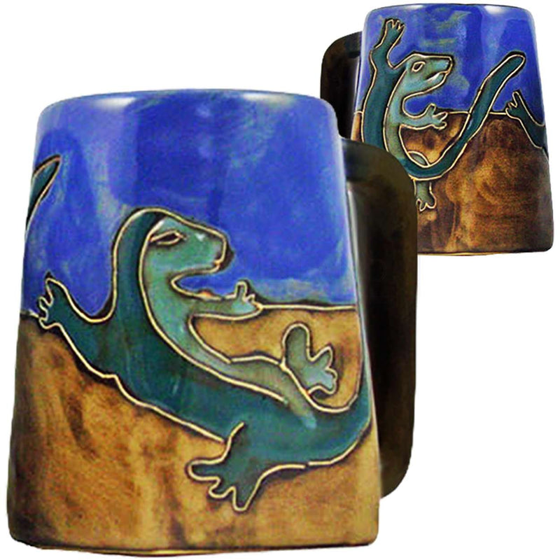Mara Square Bottom Mug 12 oz - Gecko   511S2