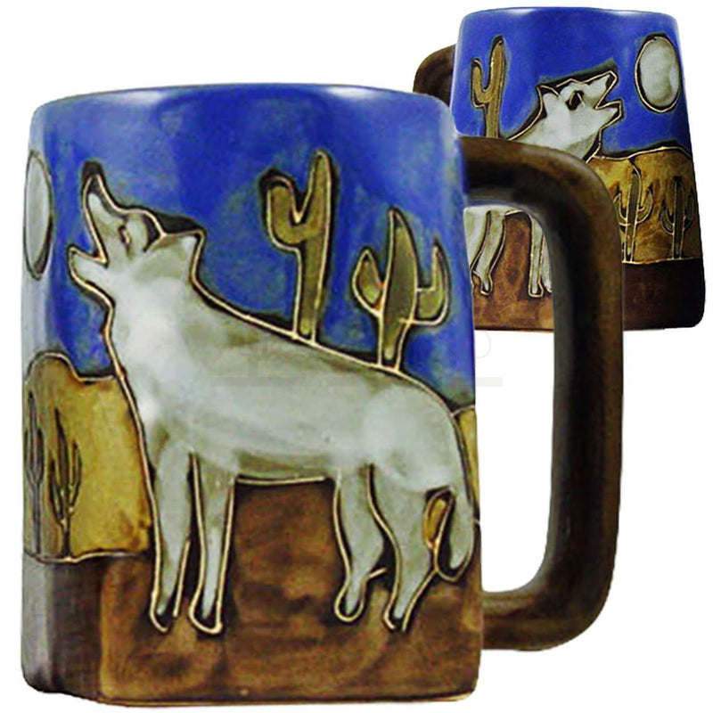 Mara Square Bottom Mug 12 oz - Howling Wolves   511S4