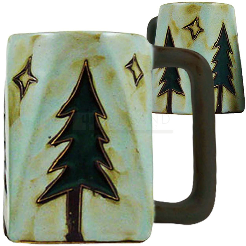 Mara Square Bottom Mug 12 oz - Pine Trees  511T1